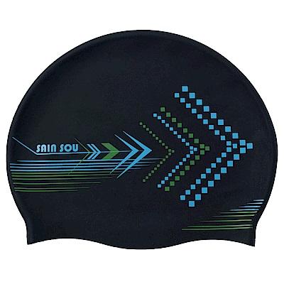 聖手牌 泳帽 黑色抗菌矽膠泳帽