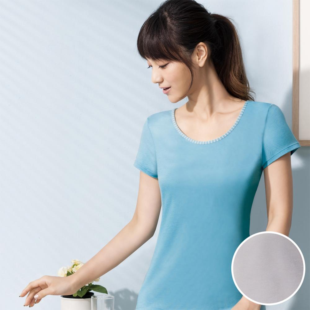 華歌爾-PH5.5酸鹼平衡M-LL短袖上衣(時尚灰)