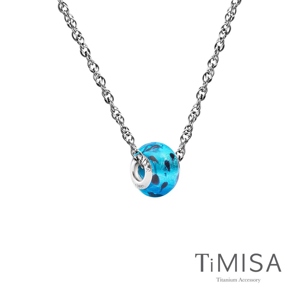 TiMISA 琉璃串珠(任選) 純鈦項鍊 SB