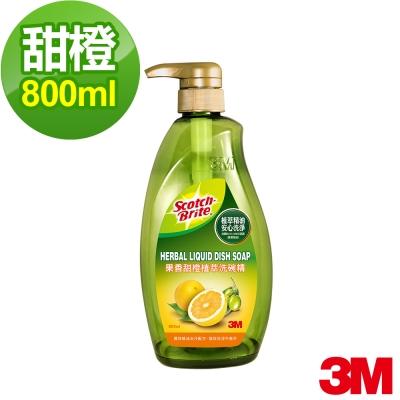 3M 果香甜橙植萃洗碗精800ml