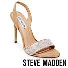 STEVE MADDEN-FIERCE-麂皮水鑽高跟鞋-絨棕