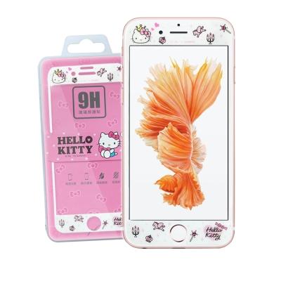 凱蒂貓 iPhone 6S / 7 / 8 4.7吋 可共用 微閃粉玻璃貼(公主凱蒂)