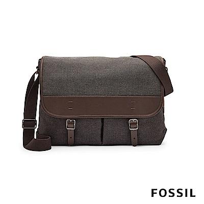FOSSIL 肩背包 BUCKNER硬派男子休閒公事包-帆布款