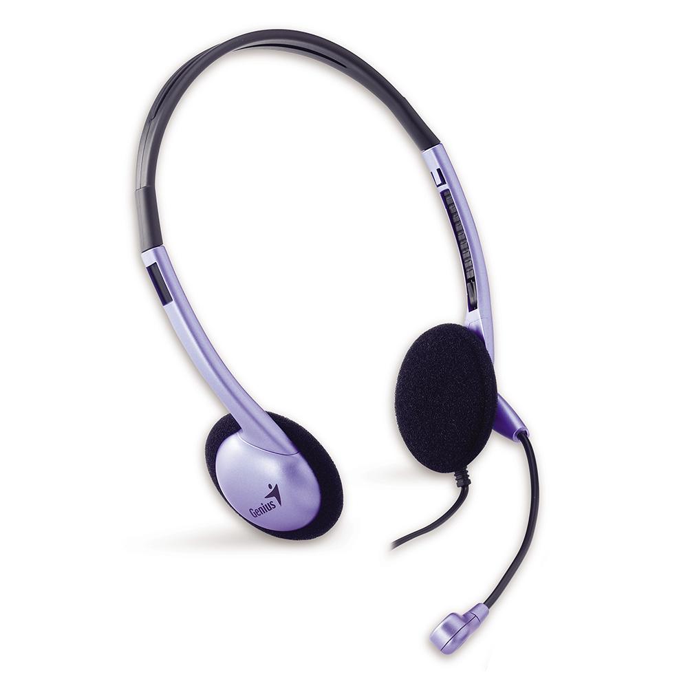 Genius HS-02B 頭戴可調式耳機麥克風