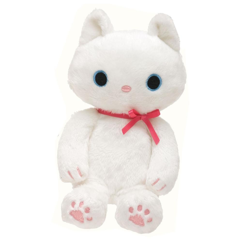 小襪貓白貓鋼琴之戀系列毛絨公仔。小白貓