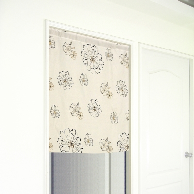 布安於室-花開富貴遮光門簾-寬100x高130cm