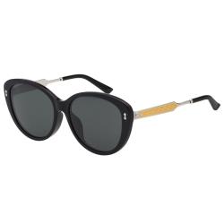 GUCCI- 小貓眼 皇室風格紋路 太陽眼鏡 (黑色)
