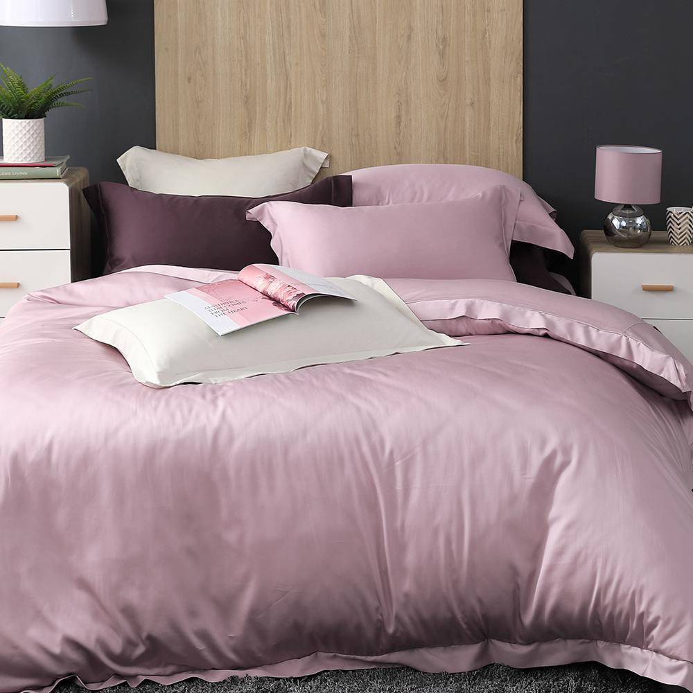 Cozy inn 薰衣粉紫 雙人四件組 100%萊賽爾天絲兩用被套床包組