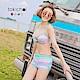 東京著衣 多色俏皮條紋綁帶兩件式泳裝(共四色)