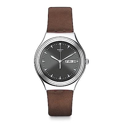 Swatch 金屬系列 PAIN D'EPICES 棕色時尚手錶