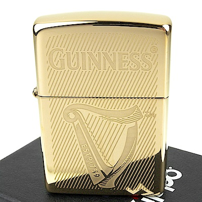 ZIPPO 美系~Guinness-健力士啤酒Logo圖案打火機