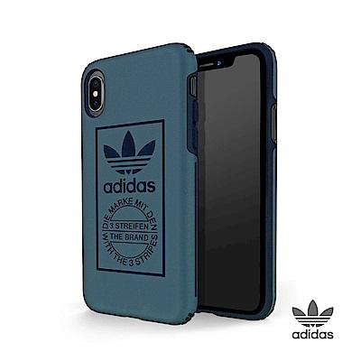 adidas iPhone X 經典三葉草 全保護手機殼 紳士藍