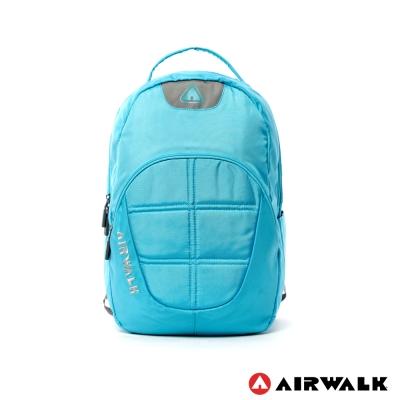 AIRWALK-輕量純色宇宙感太空後背包-淺藍