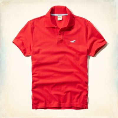Hollister HCO 短袖 LOGO POLO 紅色 059