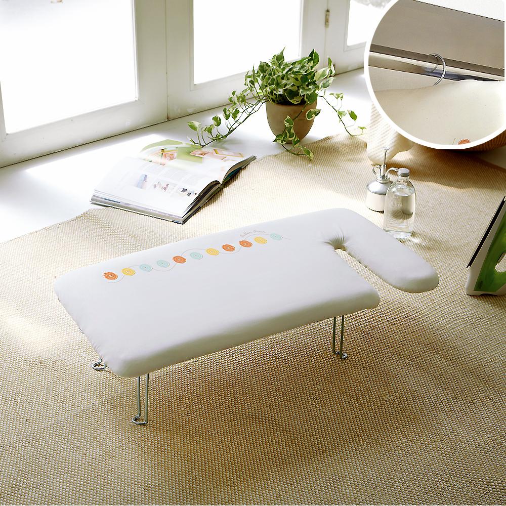 YAMAZAKI G型可掛式桌上型燙衣板-可愛鈕扣