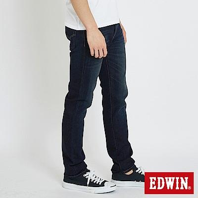 EDWIN 大尺碼503重磅五袋窄管牛仔褲 -男-中古藍