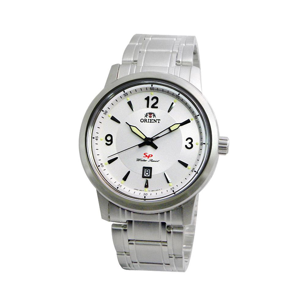 ORIENT SP 簡約潮流日期腕錶-銀白/42mm