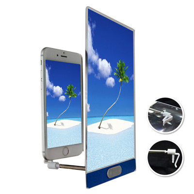 志佳新一代金屬邊框手機螢幕放大鏡(3.5mm&lightning雙插頭)