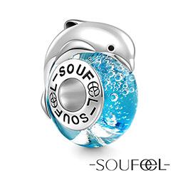 SOUFEEL索菲爾 925純銀珠飾 海豚戲水 串珠