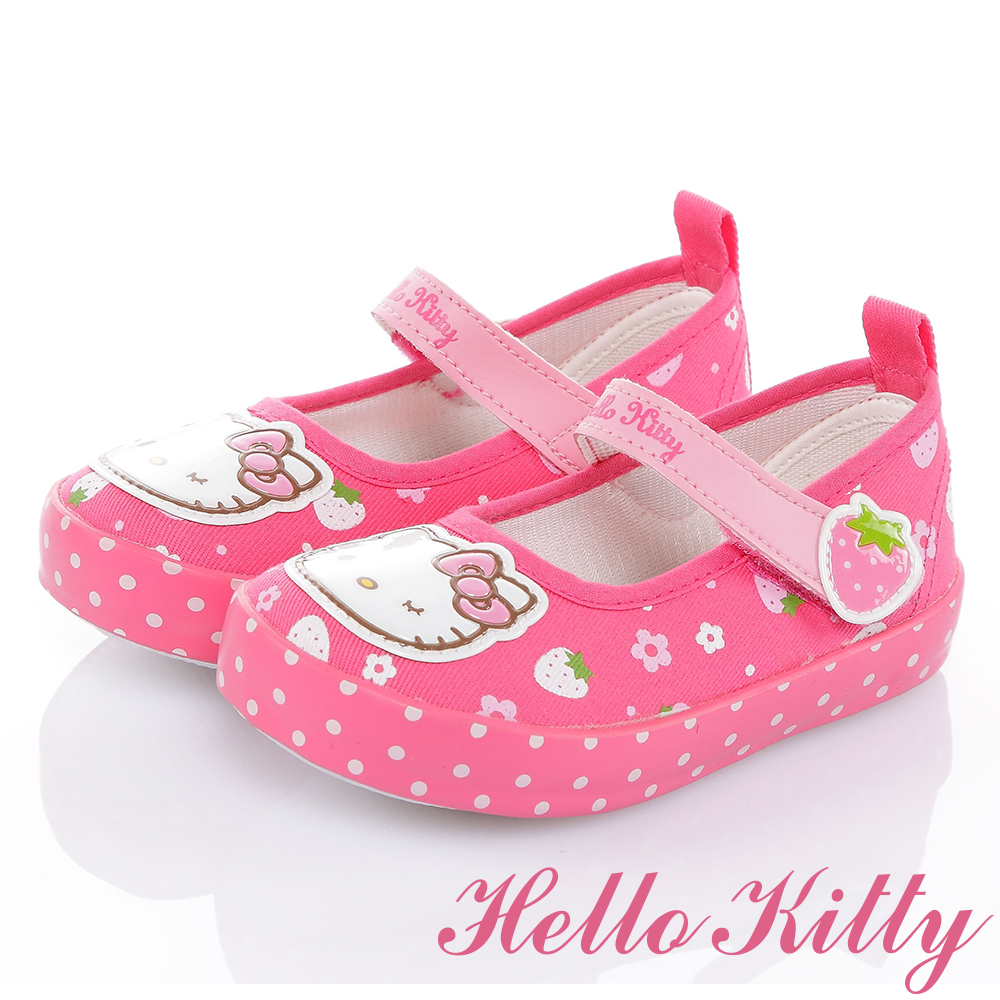 HelloKitty 草莓系列舒適減壓防滑休閒娃娃童鞋-桃