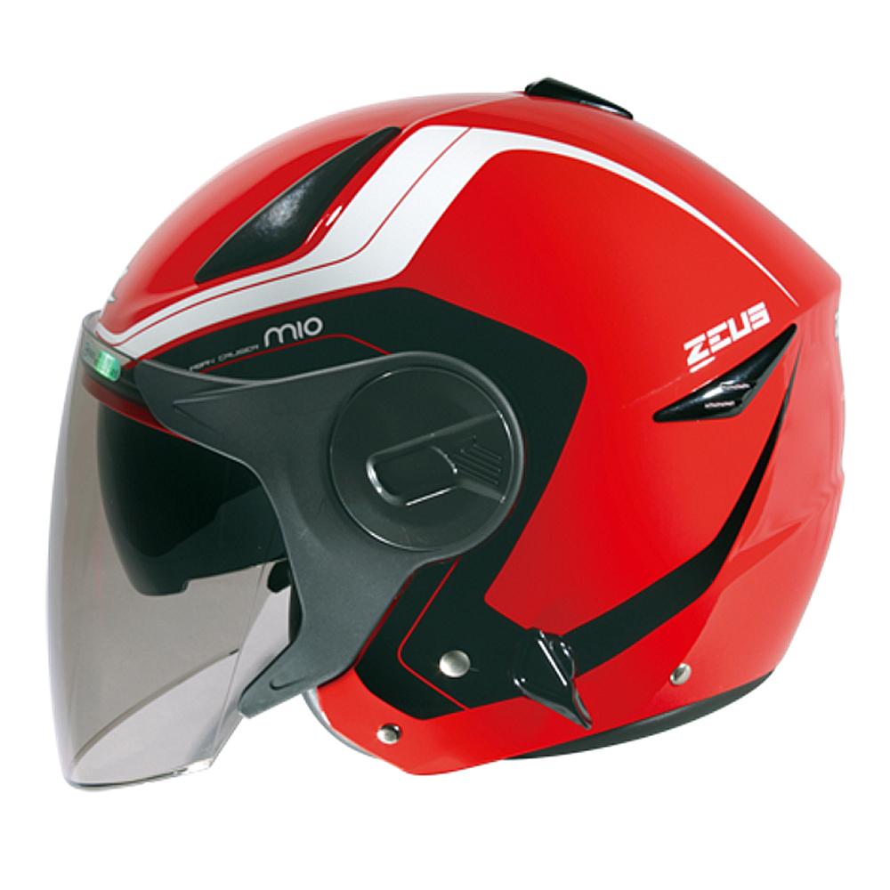 ZEUS瑞獅3/4罩式ZS-612A彩繪安全帽AD4(紅白)