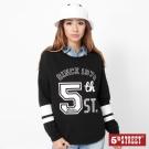 5th STREET 運動風潮落肩T恤-女-黑色
