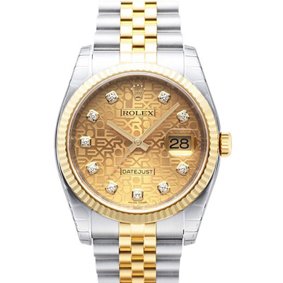 ROLEX 勞力士 DateJust 116233 蠔式恆動日誌型錶-金色紀念鑽面/37mm