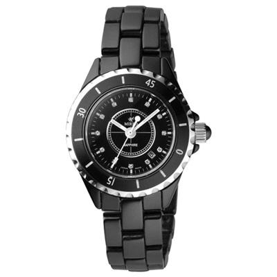 MIRRO 引爆時尚陶瓷腕錶-黑/小/35mm