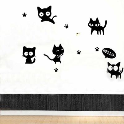 C- 001  手繪動物系列-淘氣貓 大尺寸高級創意壁貼 / 牆貼