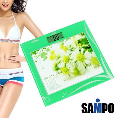 聲寶SAMPO-相框時鐘電子體重計BF-L1108ML-優雅綠