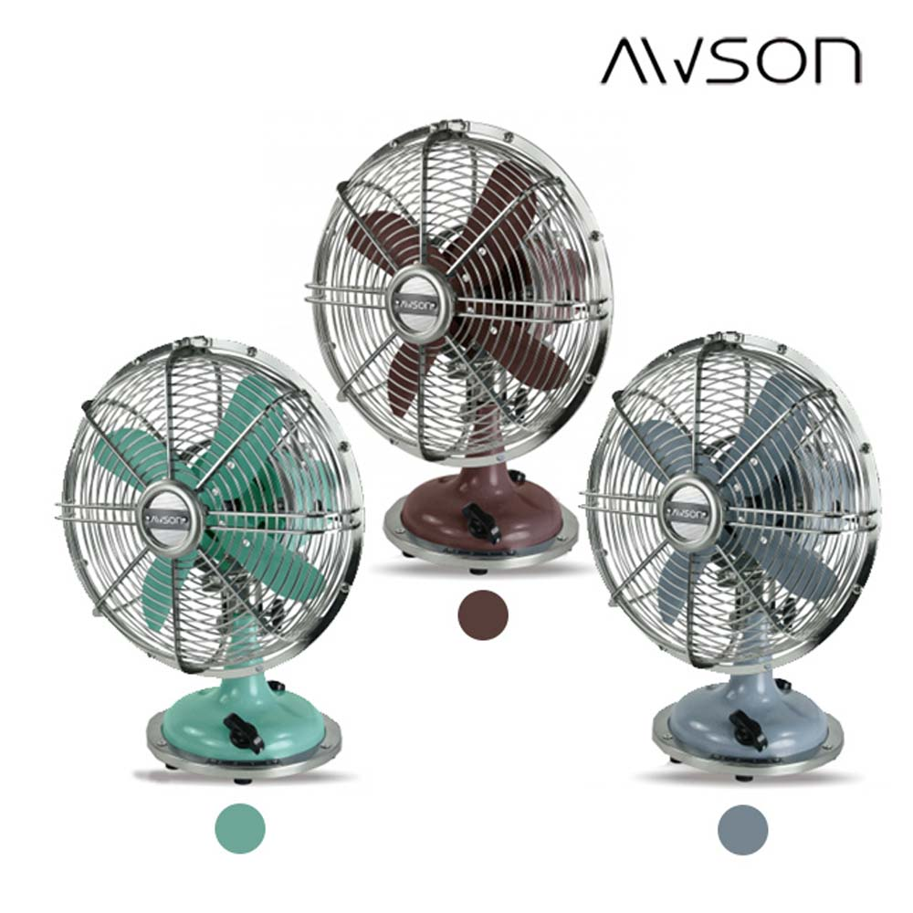 AWSON 全金屬9吋復古風扇(AS-MAF901)左右自動擺頭