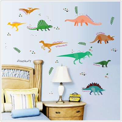 時尚壁貼 - 可愛恐龍樂園