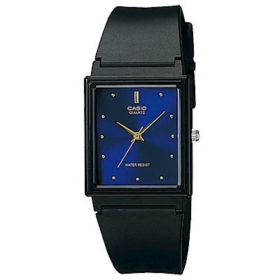 CASIO 經典復古款方形錶(MQ-38-2A)-藍面/25mm