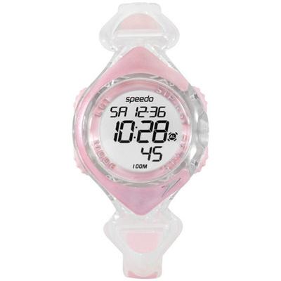 Speedo 水中漫步電子腕錶-粉紅/40mm