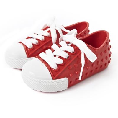 MINI MELISSA豆豆鞋-紅/白