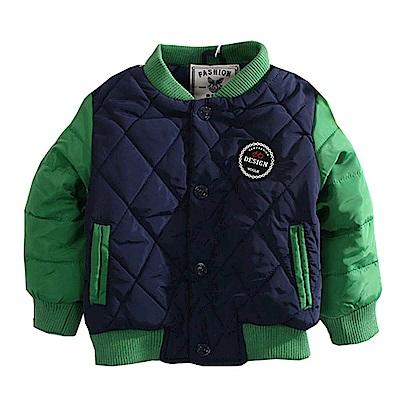 魔法Baby 鋪棉防風外套 綠藍 k60587