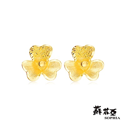 蘇菲亞SOPHIA - G LOVER系列酢醬草之2黃金耳環