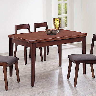 H&D 紐松木深胡桃色長方桌 (寬130X深80X高80cm)