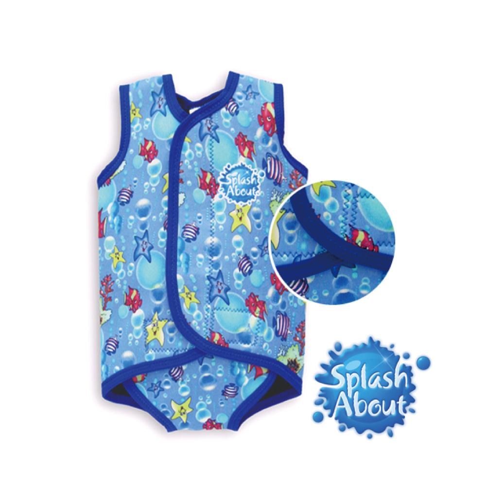 《Splash About 潑寶》BabyWrap 包裹式保暖泳衣 - 海底世界 / 寶藍