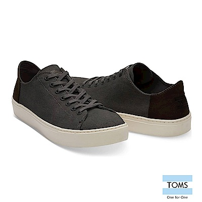 TOMS 簡約拼接帆布綁帶休閒鞋-男款