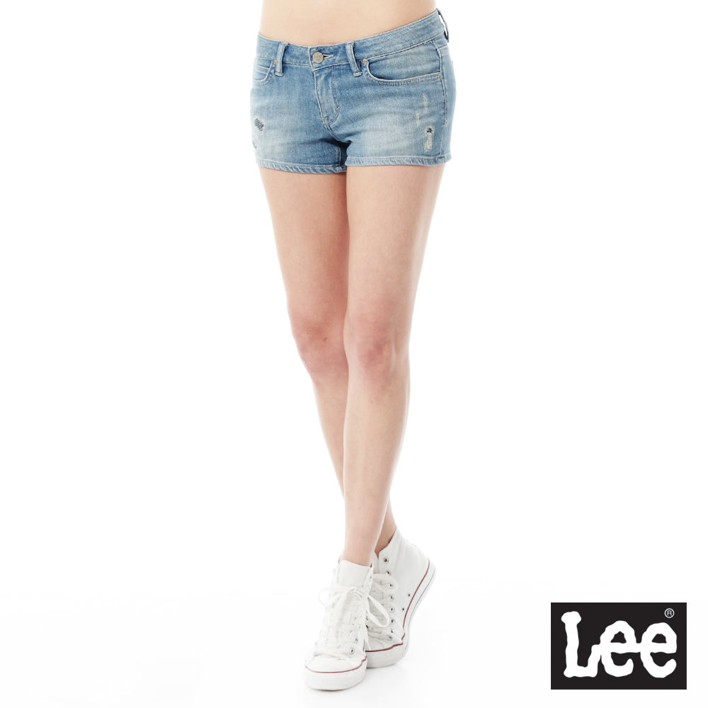 Lee 牛仔短褲Regional系列-女款-淺藍