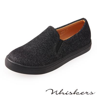 Chichi 時髦帥氣 歐美厚底休閒懶人鞋*黑色