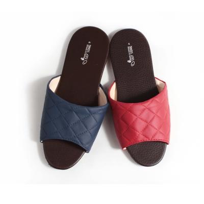 訪客拖鞋-菱格紋室內皮拖鞋-6雙
