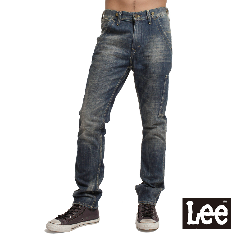 【Lee】Logger 730中腰舒適小直筒牛仔褲-男款(中古藍)