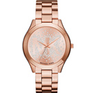 Michael Kors 璀璨魅力時尚腕錶(MK3591)-玫瑰金色/42mm