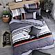 OLIVIA  夏洛特 灰  雙人全鋪棉床包冬夏兩用被套四件組 (OL305床包) product thumbnail 1