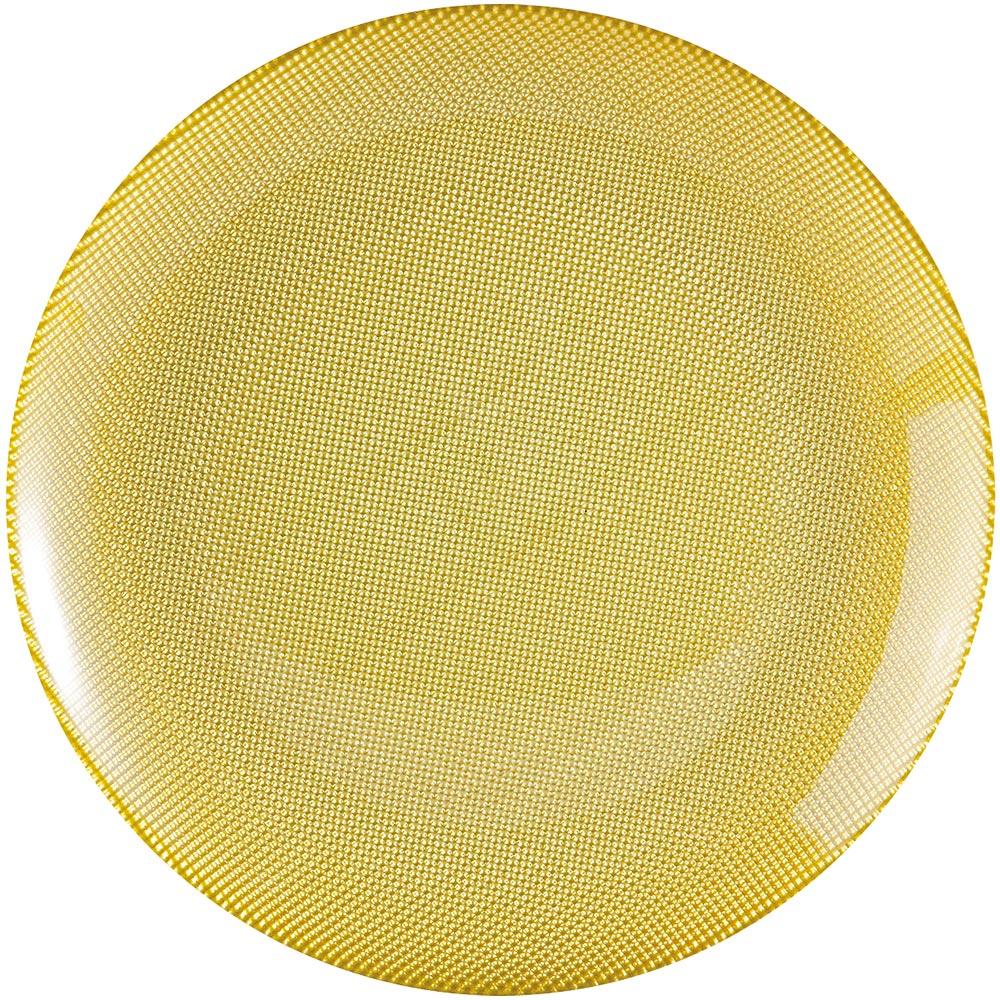 EXCELSA Diamond菱紋玻璃淺餐盤(綠25cm)