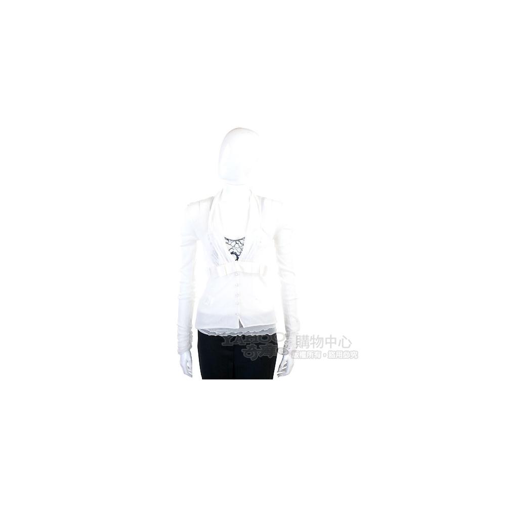 PAOLA FRANI 白色蕾絲飾兩件式上衣