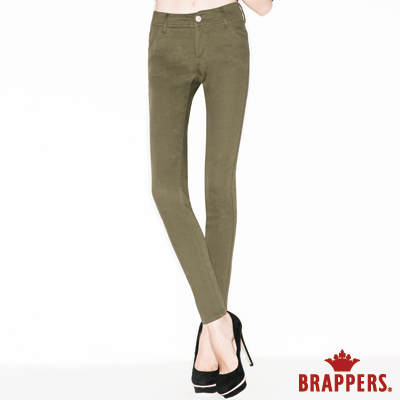 BRAPPERS 女款 LC-Cargo系列-女用彈性九分褲-綠