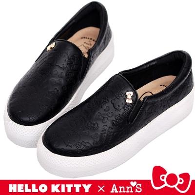 HELLO KITTY X Ann'S 和妳在一起厚底懶人鞋 黑